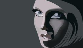 Blonde oscuro Ilustración del Vector