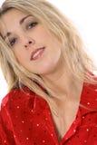 Blonde in pajamas Stock Image