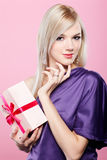 Blonde party girl Stock Photography