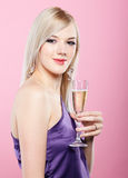 Blonde party girl Stock Photos