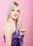 Blonde party girl Stock Photos