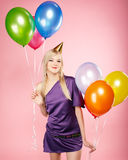 Blonde party girl Royalty Free Stock Photography