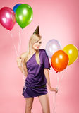 Blonde party girl Stock Image