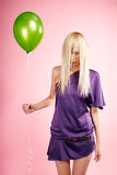 Blonde party girl Stock Images