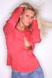 Blonde Party-Mädchen-Tänze Stockbild