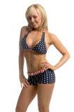 Blonde patriote de bikini images libres de droits