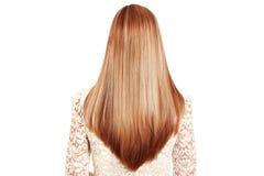 Blonde, pelirrojo, imagen larga de la acción del pelo Fotos de archivo libres de regalías