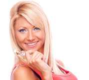 Blonde with perfume Stock Photo