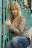 Blonde, pretty teenager Stock Photo
