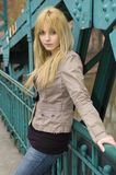 Blonde, pretty teenager Royalty Free Stock Photos