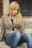 Blonde, Pretty Teenager Royalty Free Stock Photo