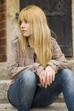 Blonde, pretty teenager Royalty Free Stock Image