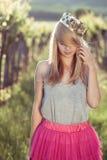 Blonde Prinzessin Lizenzfreie Stockfotos