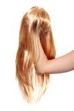 Blonde pruik stock foto