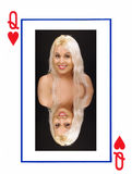 Blonde Queen of Hearts Stock Image