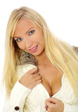 Blonde quente e 'sexy' foto de stock
