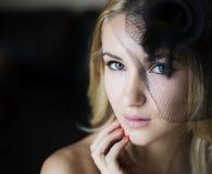 Blonde reizvolle Frau Lizenzfreies Stockfoto