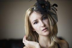 Blonde reizvolle Frau Stockbild