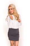 Blonde reizvolle Geschäftsdame Stockfoto