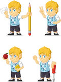 Blonde Rich Boy Customizable Mascot 14 Stock Afbeeldingen