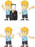 Blonde Rich Boy Customizable Mascot 15 Royalty-vrije Stock Foto