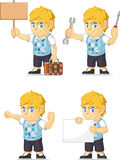 Blonde Rich Boy Customizable Mascot 16 Royalty-vrije Stock Foto's
