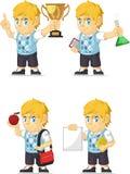 Blonde Rich Boy Customizable Mascot 2 Royalty Free Stock Photography