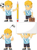 Blonde Rich Boy Customizable Mascot 5 Royalty Free Stock Photo