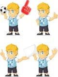 Blonde Rich Boy Customizable Mascot 3 Stock Photography