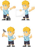 Blonde Rich Boy Customizable Mascot 17 Stock Image
