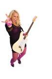 Blonde rocker girl Stock Images
