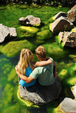 Blonde romantische Paare Lizenzfreie Stockbilder