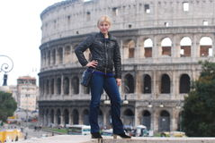 Blonde in rome Stock Image