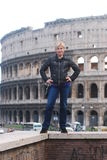Blonde in rome Royalty Free Stock Photos