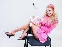 Blonde rose de type Image libre de droits
