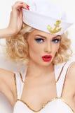 Blonde sailor Royalty Free Stock Photos