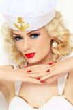 Blonde sailor Stock Photo