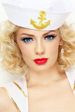 Blonde sailor Stock Image