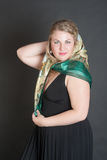 Blonde in a scarf Stock Photography