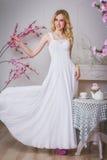Blonde schöne Braut Stockfotografie