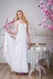 Blonde schöne Braut Lizenzfreies Stockfoto