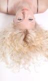 Blonde schöne junge Frau Stockfotografie