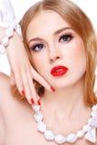 Blonde Schönheit Stockbild