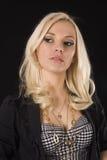Blonde Schönheit, die weg schaut Stockfotografie