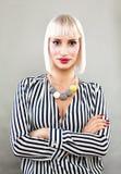 Blonde Schönheit Hübsches Frauen-Mode-Modell Lizenzfreie Stockbilder