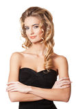 Blonde Schönheit mit dem erstaunlichen Haar Stockfotos