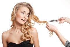 Blonde Schönheit mit dem gesunden Haar Lizenzfreies Stockbild