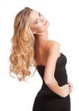 Blonde Schönheit mit dem gesunden Haar Lizenzfreie Stockbilder