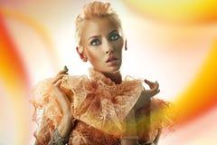 Blonde Schönheitsfrau Lizenzfreie Stockbilder