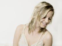 Blonde Schönheit Lizenzfreies Stockfoto